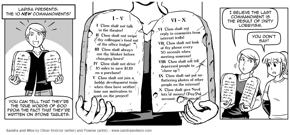[0746] The 10 New Commandments