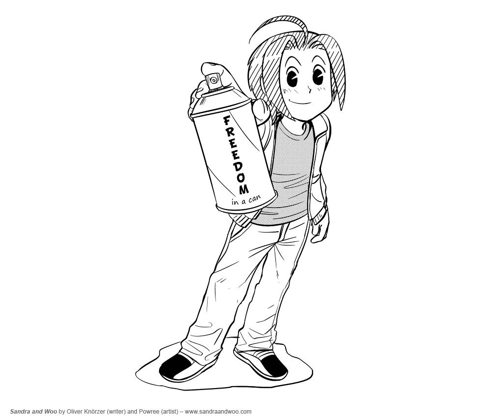 sandra and woo artwork the comedy webcomic