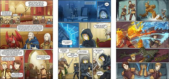 Unser neuer fantasy webcomic gaia ist online wie bei unserem ersten