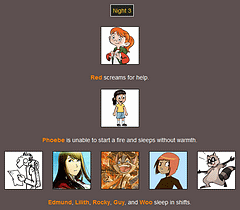 The Webcomic Hunger Games: Night 3
