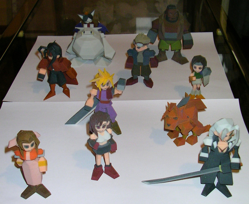 Sandra And Woo Final Fantasy VII Action Figures The