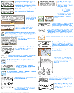 Comic lettering guide