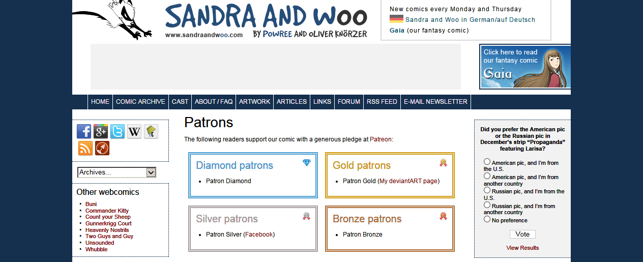 Sandra and Woo » Patreon FAQ | The comedy webcomic