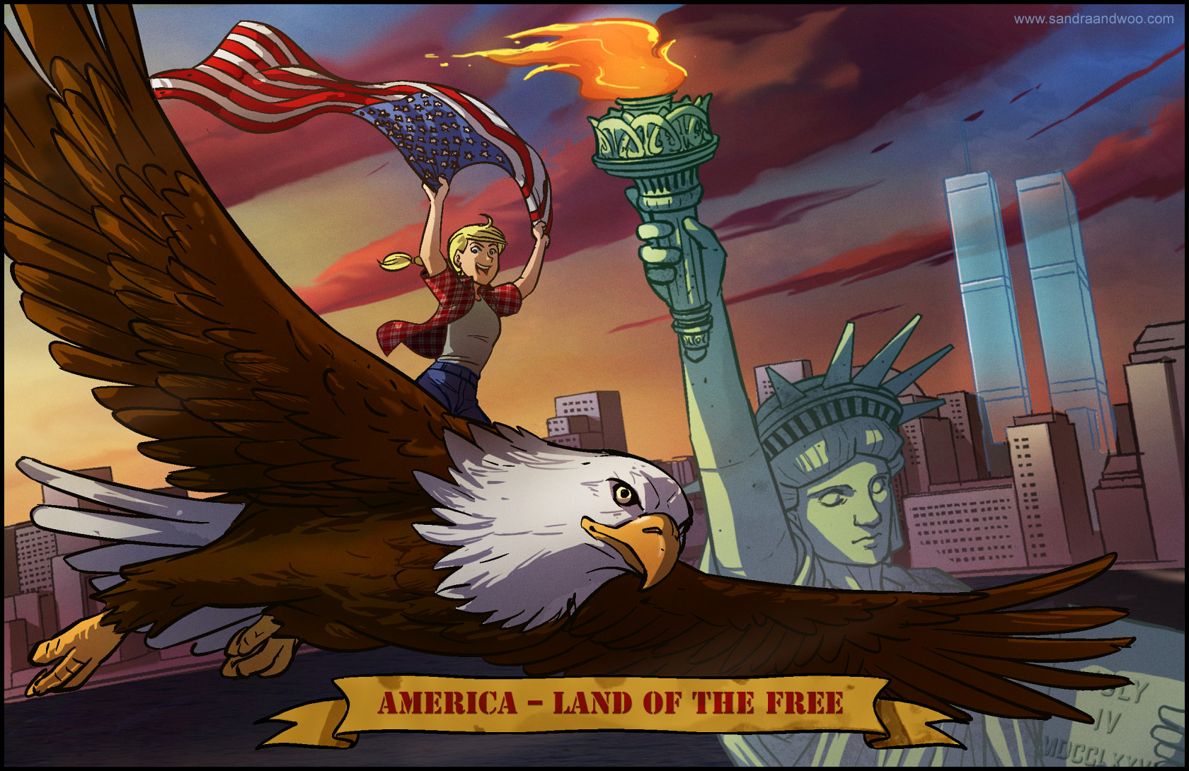 Sandra and woo 0643 propaganda the comedy webcomic for How to get free land in usa