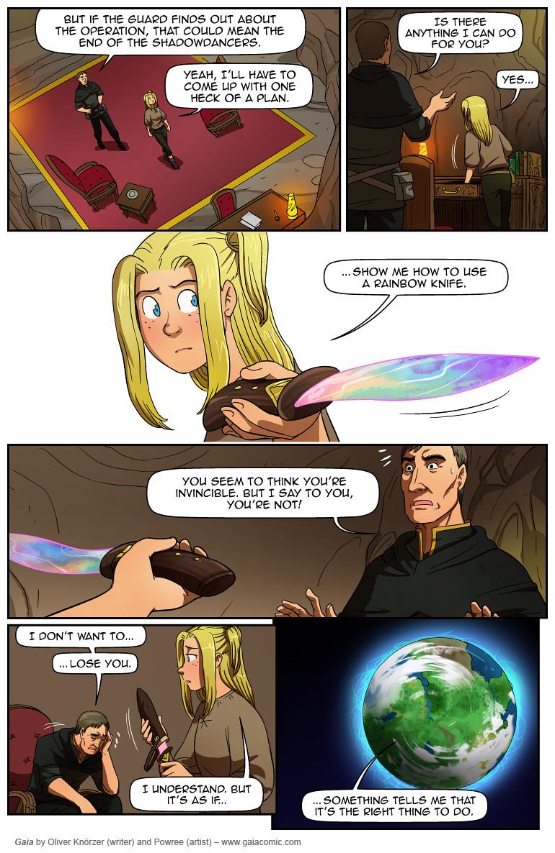 Gaia Webcomic gaia » shadowdancers 065 | the fantasy webcomic