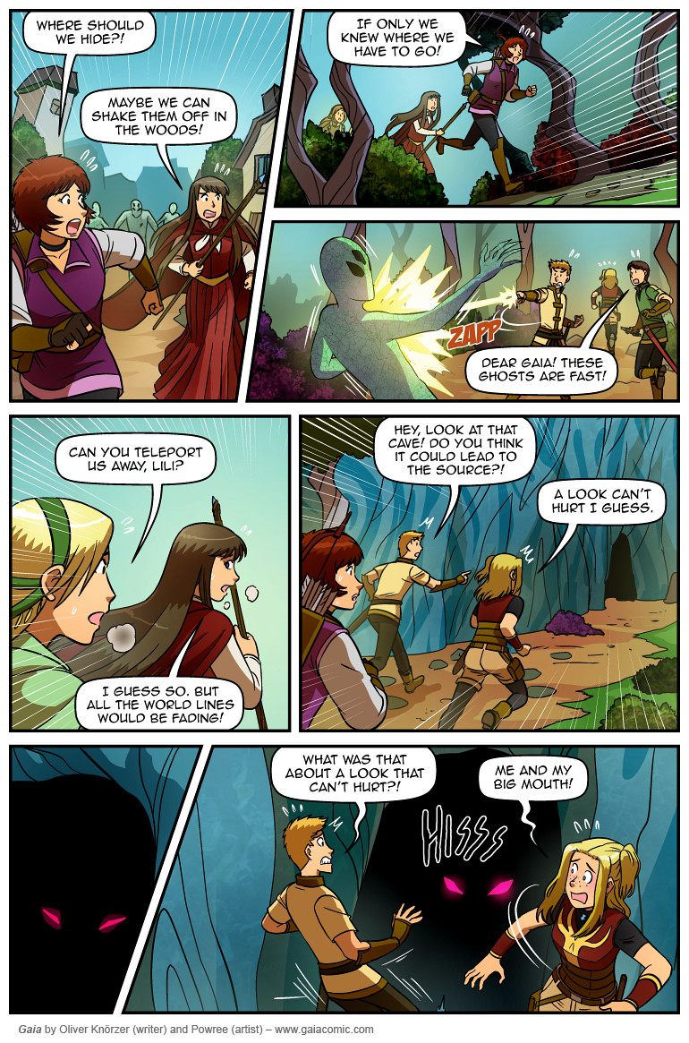 Gaia Webcomic gaia » the door 026 | the fantasy webcomic